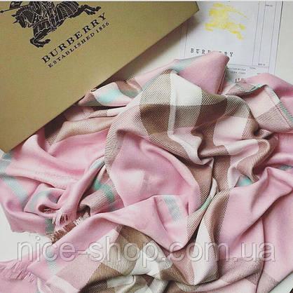 Платок Burberry розовый, фото 2