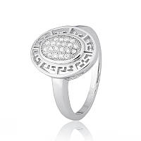 Срібне кільце з фианитом КК2Ф/465 - 16,5