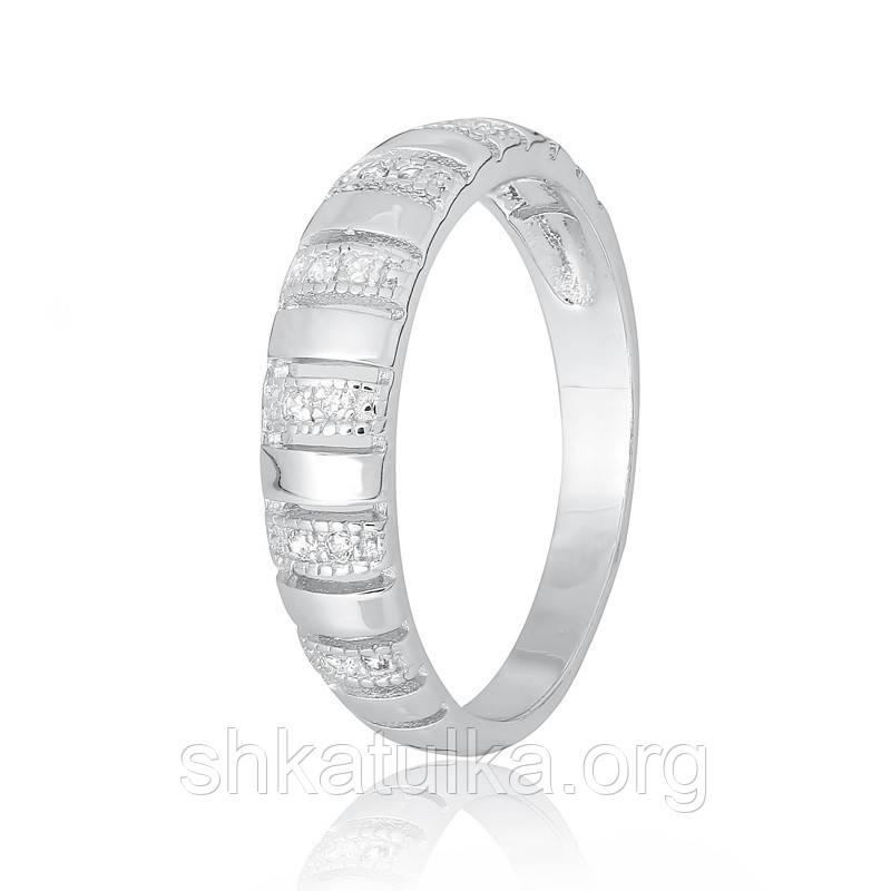 Серебряное кольцо с фианитом КК2Ф/495