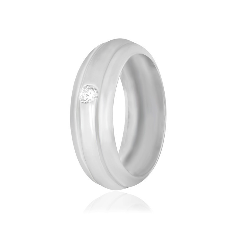 Срібне кільце з фианитом КК2Ф/917 - 19,3
