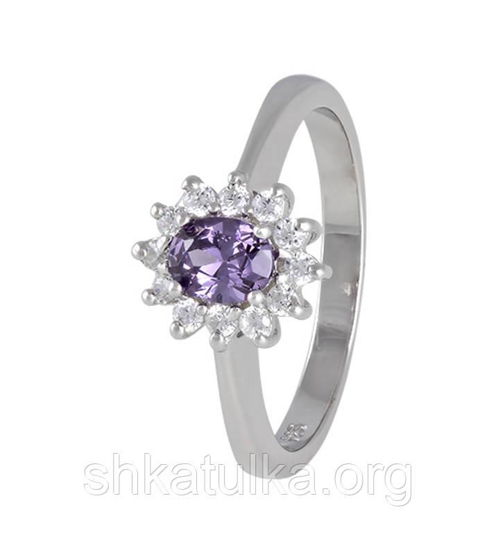 Серебряное кольцо с фианитом КК2ФА/375 - 18,1