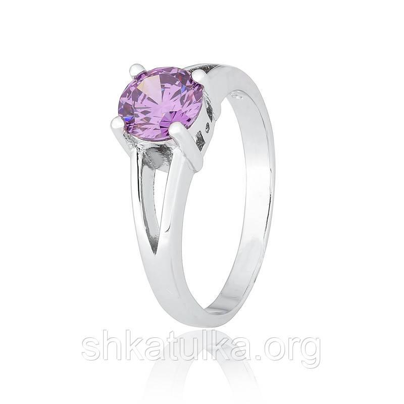 Серебряное кольцо с фианитом КК2ФА/404 - 15,9