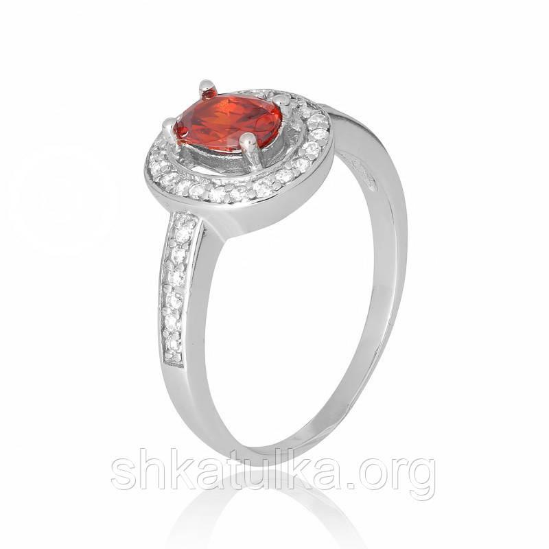 Серебряное кольцо с фианитом КК2ФГ/482