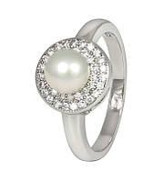 Срібне кільце з перлами КК2ФЖ/414 - 15,9