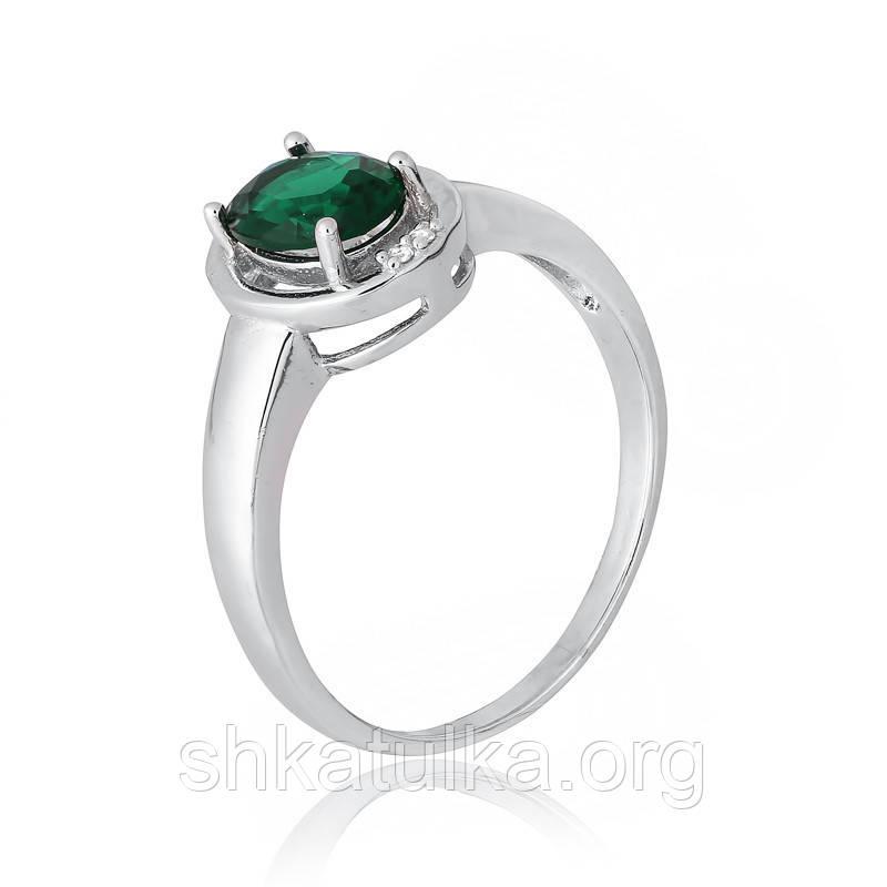 Серебряное кольцо с фианитом КК2ФИ/392 - 15,9