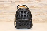 Модный черный женский рюкзак код 7-177