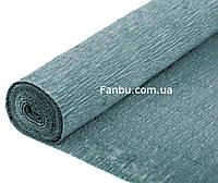 Креп бумага серо-зеленая№606
