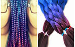 Канекалон, пряди в волосы, цветные волосы (сиреневого цвета), фото 4