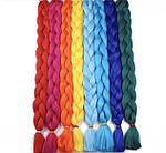 Канекалон, пряди в волосы, цветные волосы (сиреневого цвета), фото 7