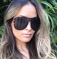 Солнцезащитные женские очки маска Versace 2180 черные