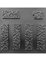 """Форма для декоративного (искусственного) камня и плитки """"Пиксель"""" (6 форм)"""