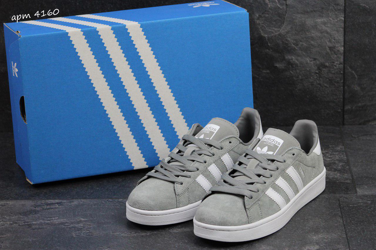 Мужские кроссовки Adidas Campus адидас кроссовки-серые- Замша , подошва   резина р  93b0ba62d4a