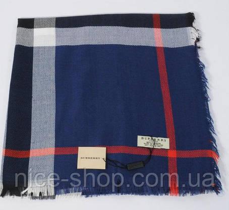 Платок Burberry темно-синий, фото 2