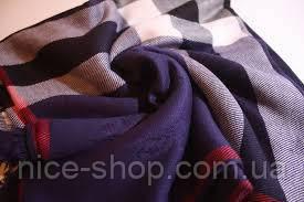 Платок Burberry темно-синий, фото 3