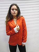Женский фирменный терракотовый пиджак STRADIVARIUS,на подкладке,  р.М