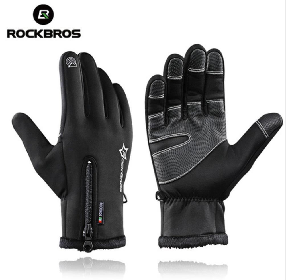 Теплі рукавички RockBros зима / осінь / весна (-10 - 0 град.) (BLACK)