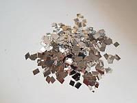 Конфетти квадратики серебряные, 100 грамм