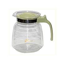 """Заварник для чая стеклянный 2200 мл с пластиковой ручкой """"Мега"""""""