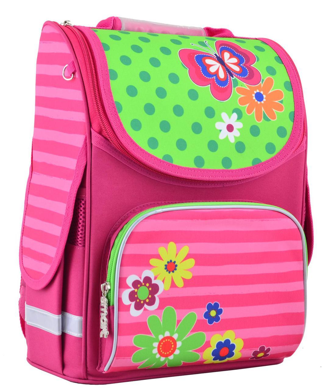 cb5fbd9f052c Рюкзак каркасный 1 вересня Smart PG-11 Flowers 554511 - Интернет-магазин  Kindermir.