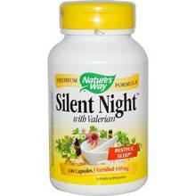 Nature's Way, Тихая ночь, с валерианой, 100 капсул