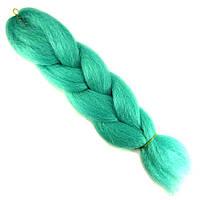 Канекалон, пряди в волосы, цветные волосы (мятного цвета)