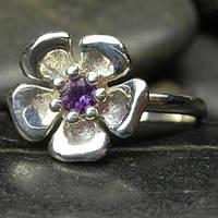 Кольцо серебреное с прекрасным камнем аметистом