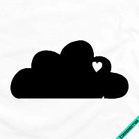 Рисунки для бизнеса на пояса Облако [7 размеров в ассортименте] (Тип материала Матовый)