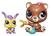 Медвежонок Маленький Зоомагазин Littlest Pet Shop Pet Pawsabilities Happy Honeyman and Brianna Buzzer Doll