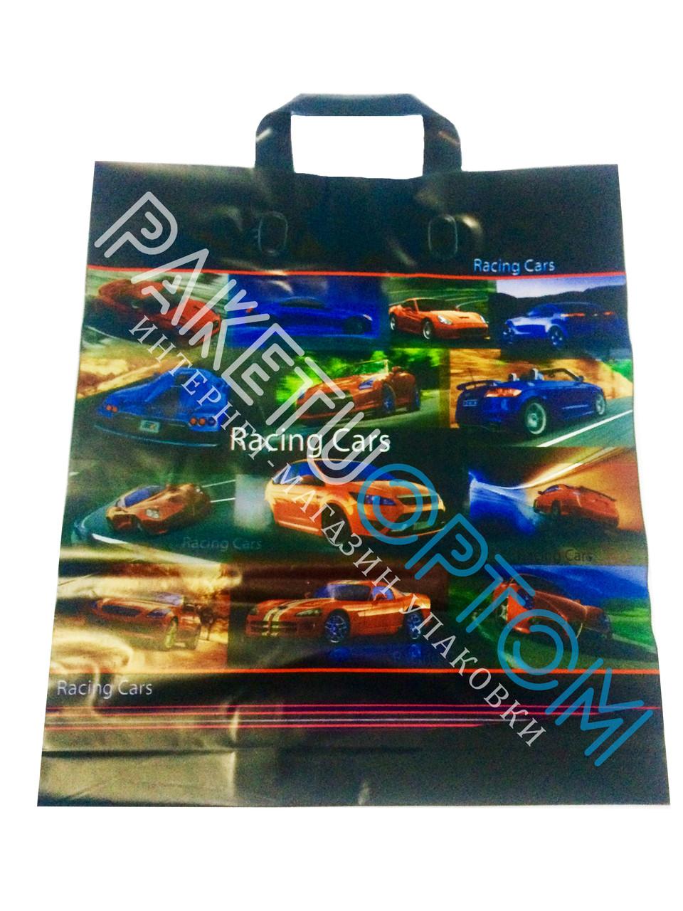 """Пакет с петлевой ручкой (пакет-петля) """"Racing cars"""""""