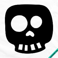 Дизайн для бизнеса на топы Череп [7 размеров в ассортименте] (Тип материала Матовый)