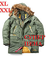Парка мужская зимняя Alpha Industries N-3B Inclement Parka Green XXL