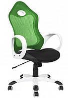 Кресло Матрикс-1 Белый механизм Anyfix сиденье Сетка черная/спинка Сетка салатовая.