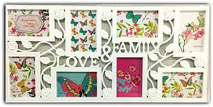 Рамка коллаж на 8 фото Любимая Семья, 3015-49, (Q1618)
