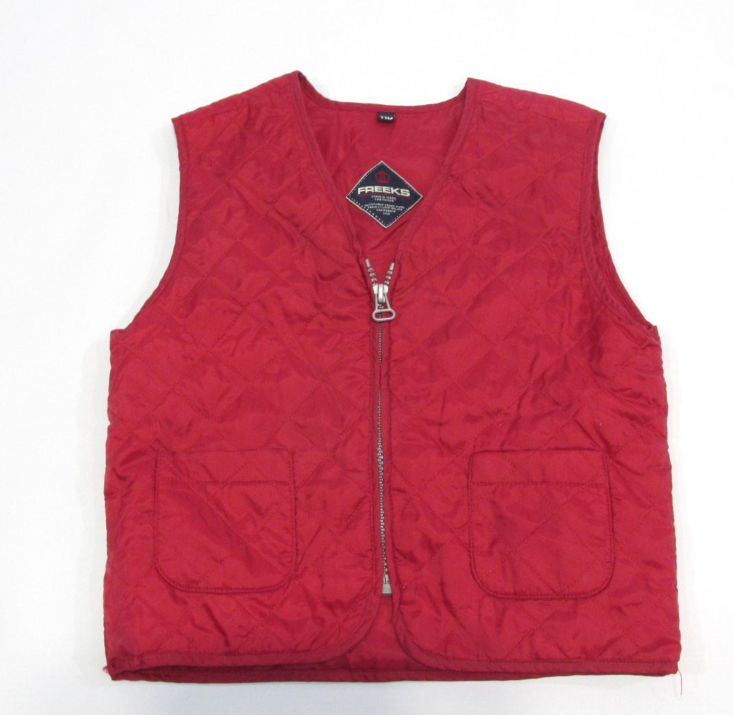 Куртка жилет детская  Freeks, 110, стеганая, красная, Оч хор сост!