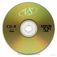 CD-R диски для аудио VS золотистый Bulk/50