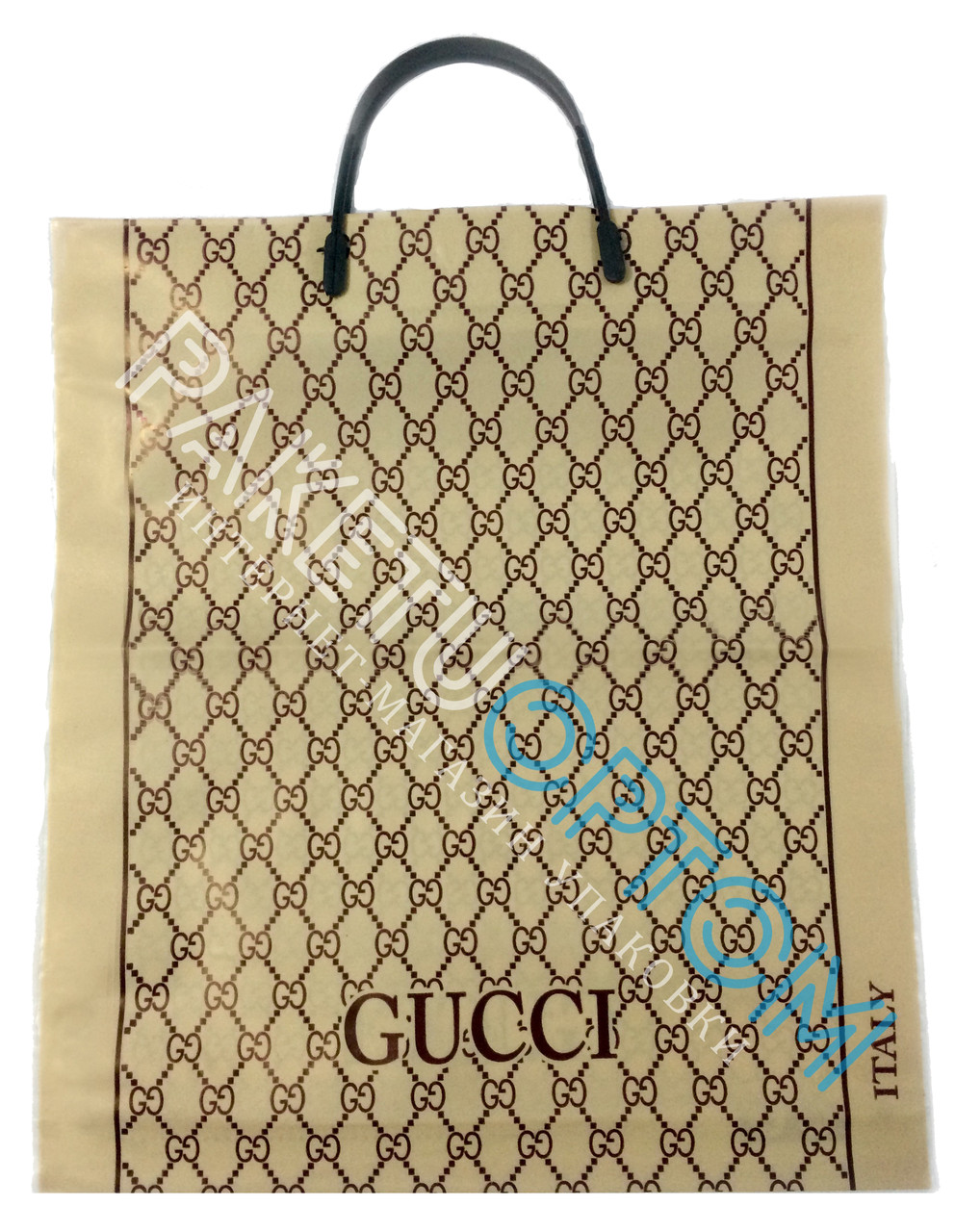 """Пакет с пластиковой ручкой (пакет-пластик) """"Gucci"""""""