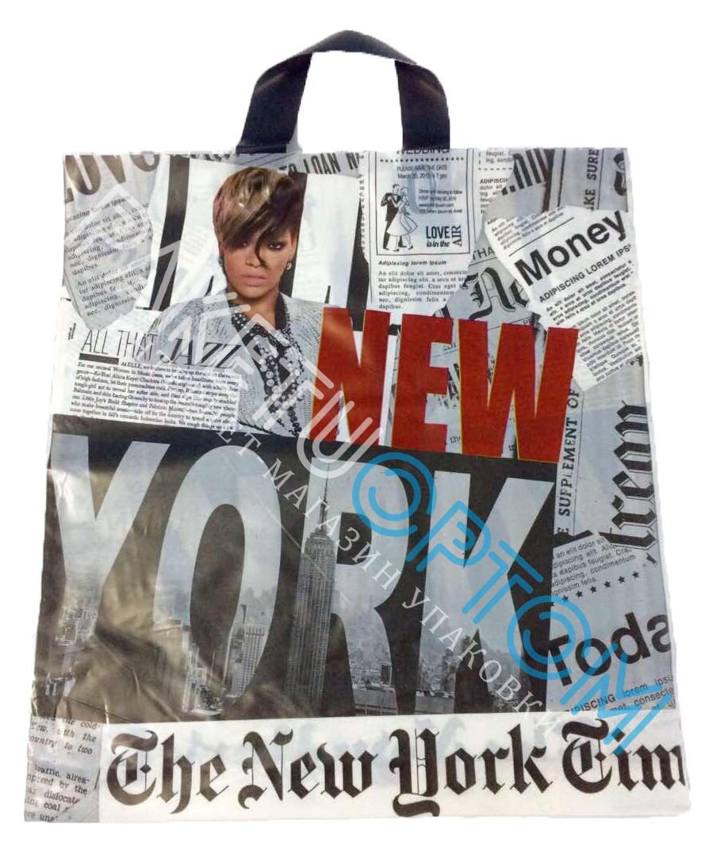 """Пакет с петлевой ручкой (пакет-петля) """"New York"""""""