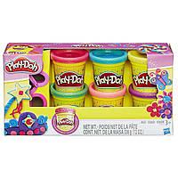 Набор  Play-Doh пластилин с блестками 6 шт.