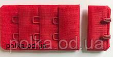 Застежка для бюстгальтера, цвет красный, ширина 30мм  (Турция)