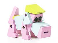 Собачка LA-1 Деревянная игрушка Левеня Cubika 4823056511858