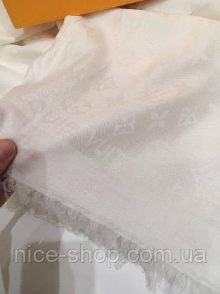 Платок Louis Vuitton белый, фото 3
