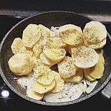 Сковорода для жарки Fissman ROCK STONE 28 см. (Каменное антипригарное покрытие c индукционным дном), фото 5