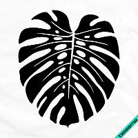 Термоперевод на футболки Листик [7 размеров в ассортименте] (Тип материала Матовый)