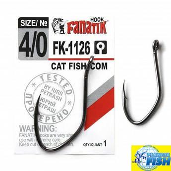 Крючок одинарный Fanatik CAT FISH/СОМ FK-1126 №4/0 (1шт)
