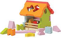 Домик сортер LS-1 Деревянная игрушка Левеня Cubika 4823056511599