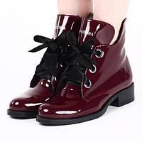 Женские лаковые ботинки на зиму с Польши размеры 37