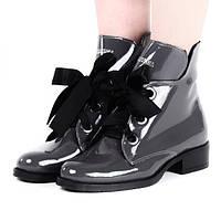 Зимние женские ботинки из лаковой кожи размеры 36,39-41