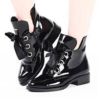 Стильные лаковые ботинки на холодную зиму размеры 36