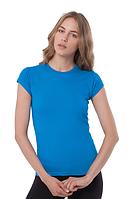 Футболка женская приталенная,  однотонная, JHK T-shirt , Испания, 100% хлопок, все размеры и цвета