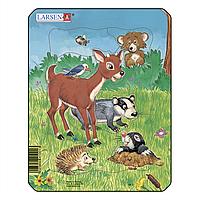 Пазл-вкладыш Домашние животные №1, серия МИНИ, M1-1, Larsen